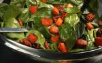 American Warm Spinach Salad with Smoky Pecans and Sweet Potato Recipe Dessert