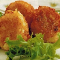 American Two Cheese Rice Fritters Appetizer