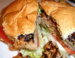 American Mushroom Stuffed Grilled Pork Burgers Dinner