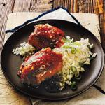 British Ginger-soy Chicken Thighs with Scallion Rice Alcohol