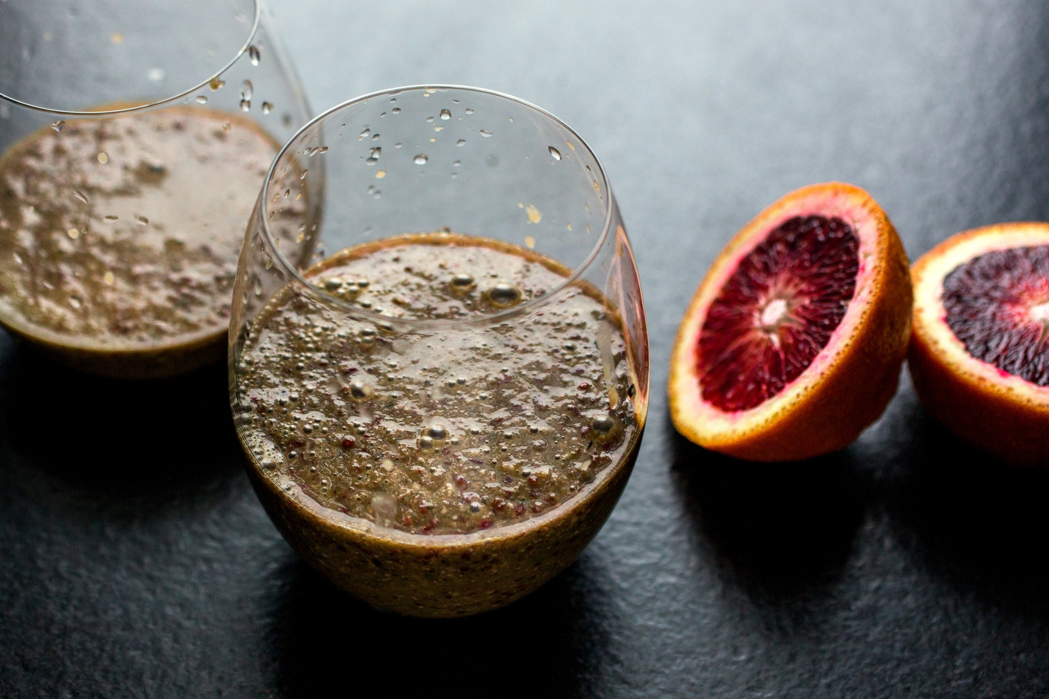 American Blood Orange Smoothie With Grapes and Red Quinoa Recipe Appetizer