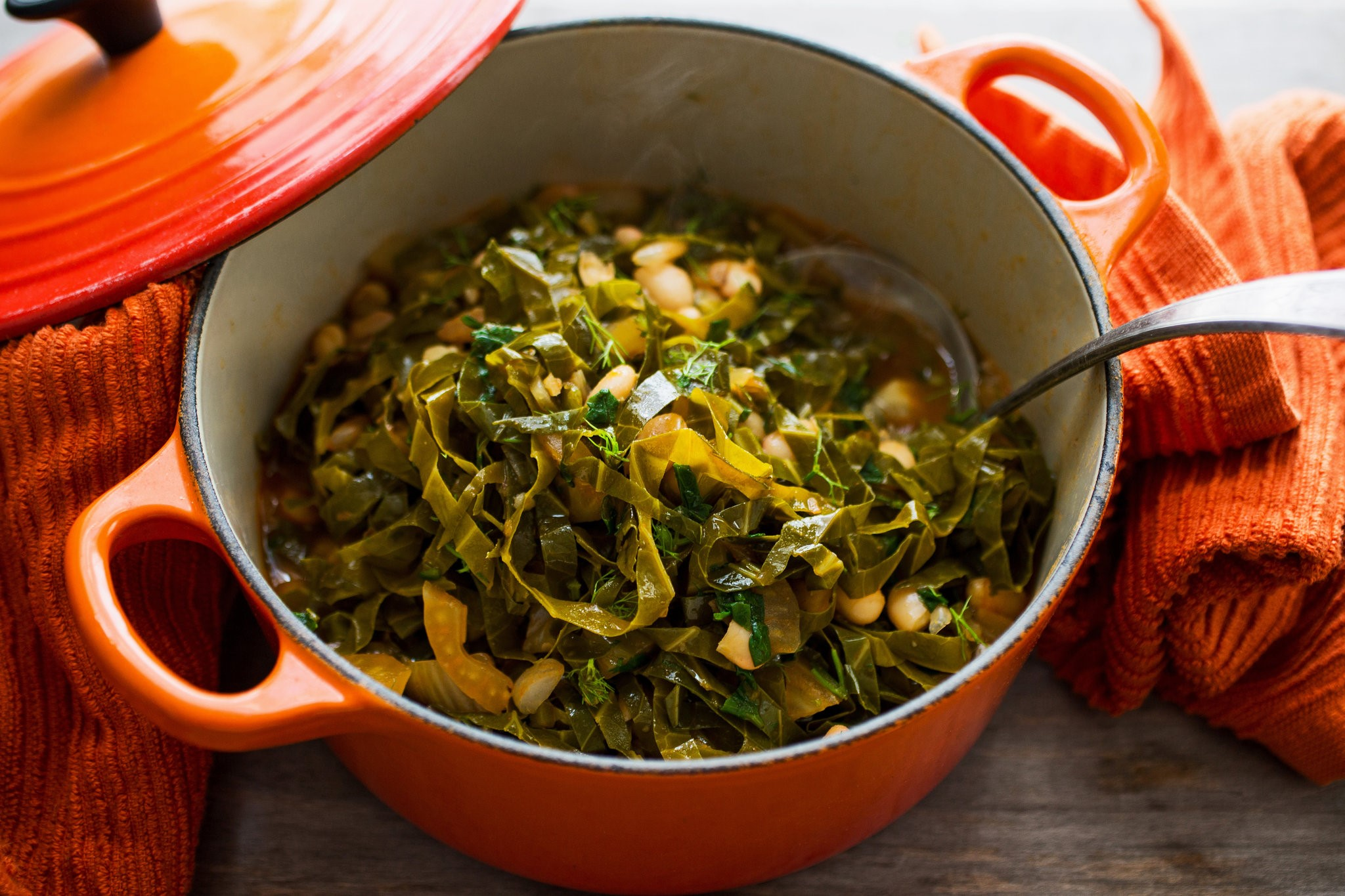 American Collard Greens Tagine With Flageolets Recipe Appetizer
