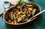 American Pasta With Mussels in Tomato Sauce Recipe Appetizer
