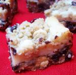 American Chocolate Chip Cranberry Cheese Bars 4 Dessert