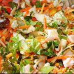 American Green Salad with Dill Dressing Appetizer