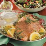 American Salmon with Dill Sauce 2 Appetizer
