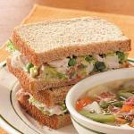 Turkish Turkey Salad Sandwiches Appetizer