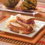 Turkish Turkey Sandwiches With Red Pepper Hummus Appetizer
