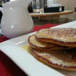 Australian Sour Cream Pancakes with Sour Cream Maple Syrup Breakfast