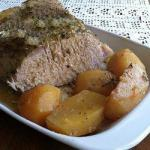 American Greek Pork Roast in the Slow Cooker Dinner
