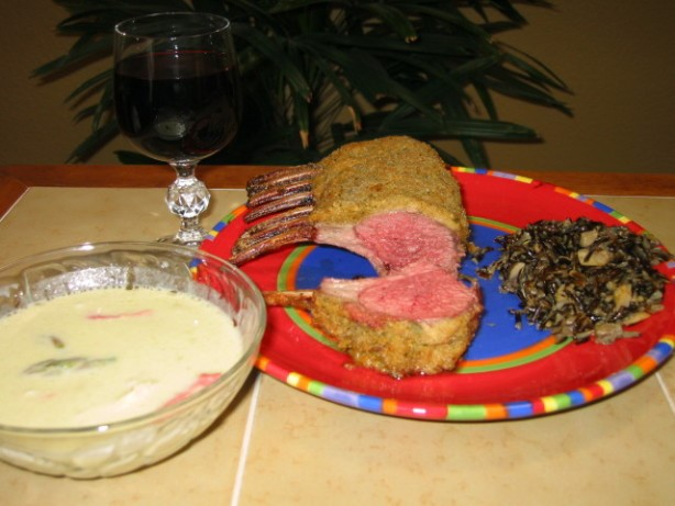 French Rack of Spring Lamb with Roasted Garlic Dinner