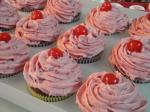 American Double Chocolate Malt Shop Cupcakes W Cherryvanilla Buttercream Dessert