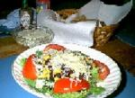 American Black Bean and Corn Salad With Homemade Tortilla Chips Appetizer