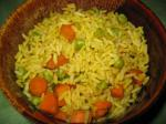 American Rice With Carrots and Peas rice Cooker Dinner