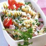British Pasta Salad with Peas and Sausage 1 Appetizer