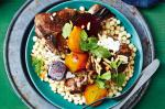 Moroccan Moroccan Spiced Lamb Chops With Moghrabieh And Roasted Beetroot Recipe Dessert