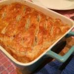 American Oven Dish with Minced and Puff Pastry Appetizer