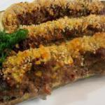 American Zucchini Stuffed with Minced Meat Appetizer