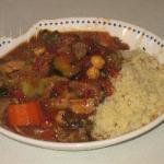 Moroccan Moroccan Stew with Lamb Chicken and Couscous Dinner