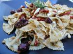 Chilean Bow Tie Pasta With Sundried Tomatoes and Kalamata Olives Dinner