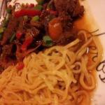 Canadian Spicy Stirfry Dish with Beef and Veal Dessert