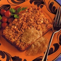 British Lentil and Nut Roast Dinner