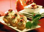 American Puff Pastry Canapes with Blue Cheese and Pears Breakfast