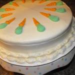American Carrot-pineapple Cake with Apricot Cream Frosting Appetizer