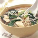 Chinese Chinese Noodle Soup with Chicken Dinner