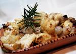 American Roasted Cauliflower  Roasted Garlic With Pearl Onions Appetizer
