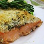 British Baked Salmon with Parmesan Cheese Appetizer