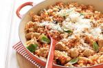 American Tomato And Sausage Risotto Bake Recipe Appetizer