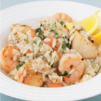 Italian Seafood Risotto Dinner