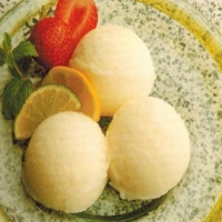 French Lemon Lime Sorbet Dessert