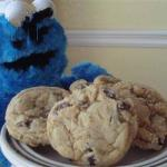 American Cookie Monster Biscuits with Chocolate Dessert