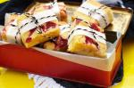 British Raspberry and White Chocolate Blondies Recipe Dessert