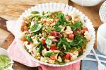 British Marinated Cauliflower And Sprout Salad With Tomato Dressing Recipe Appetizer