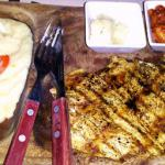 British Grilled Chicken Breasts with Garlic Butter BBQ Grill