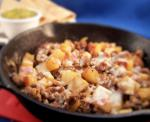 American Potatoes and Sausage Skillet Fry Appetizer