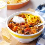 American Slow Cooker Chicken and Sweet Potato Chili Dinner