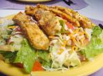 American Chicken Salad With Greens and Balsamic Dressing Appetizer
