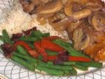 American Green Beans With Bacon and Red Bell Pepper Appetizer