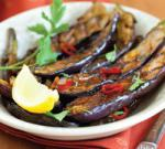 American Grilled Eggplant Layered with Shaved Garlic and Fresh Thyme Appetizer