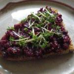 American Vegan Beetroot Parfait with Walnuts Appetizer