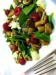American Warm Mushroom and Spinach Salad Appetizer