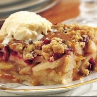 Canadian Cranberry-Apple Pie Squares Dessert