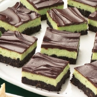American Mint Cheesecake Squares Dessert