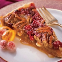 Canadian White Chocolate- Cranberry-Pecan Tart Dessert