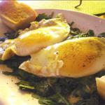 British Baked Eggs with Spinach Breakfast