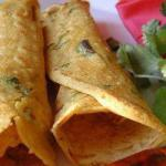 Indian Crepes Salty and Vegan Appetizer